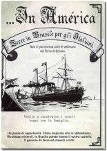 panfleto de imigração na Itália