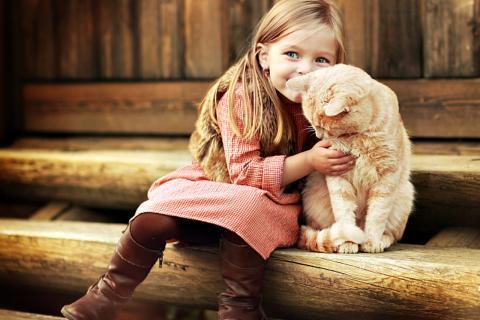 garota e gato 1