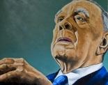 Jorge Luis Borges, pintura  Iñaki Massini Pontis (2010)