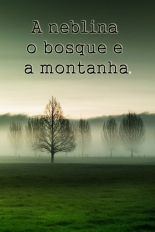 A neblina o bosque e a montanha